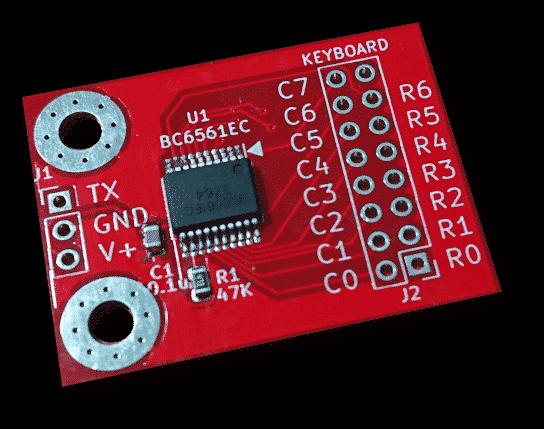 BC6561矩阵按键接口板
